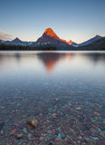 Morning at two medicine lake, glacier national park, MT Royalty Free Stock Image