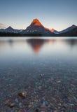 Morning at two medicine lake, glacier national park, MT Stock Photo