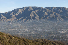 Morning Valley Haze in Southern California. Morning valley haze at La Crescenta and Montrose below Mt. Lukins near Los Angeles in Southern California Royalty Free Stock Photos