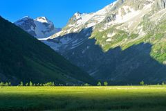Morning in valley Stock Photography