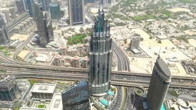 Morning veiwe of Dubai from bruj khalifa 125 flor. Buildings roads markets every thing can be seen Stock Photos