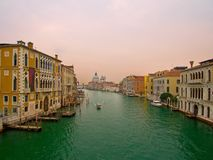 Morning in Venice, Grand Canal. Royalty Free Stock Images