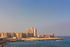 The morning view of Alexandria harbor, Egypt Stock Photography