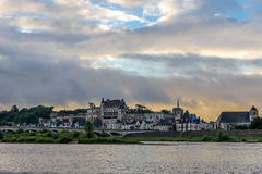 Morning view at the Amboise chateau Stock Photo
