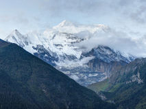 Morning view of Annapurna stock photo