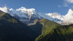 Morning view of Annapurna stock photography