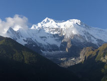 Morning view of Annapurna stock images