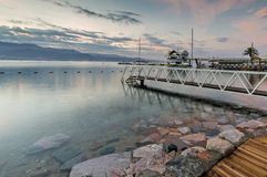 Morning view on the Aqaba gulf and resort hotels of Eilat, Israel Royalty Free Stock Photo