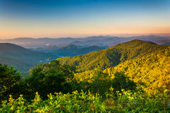 Morning view from the Blue Ridge Parkway in North Carolina. Royalty Free Stock Photos