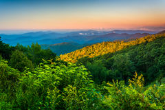 Morning view from the Blue Ridge Parkway in North Carolina. Stock Photo