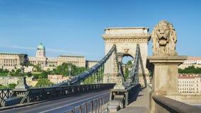 Budapest Chain Bridge. Morning View of Budapest Chain Bridge stock photos
