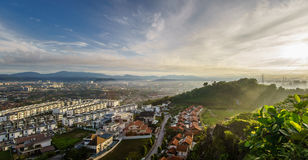 Morning View from Bukit Seri Bintang Royalty Free Stock Images