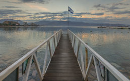 Morning view on the central beach of Eilat, Israel Stock Photography