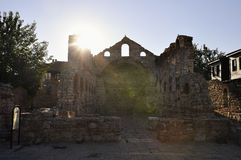 Morning view on Church of St Sophia ruins in Nessebar, Bulgaria. Royalty Free Stock Photography