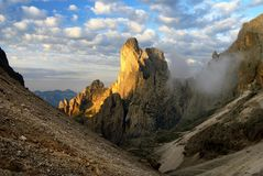 Morning view of cima della madonna Royalty Free Stock Photos