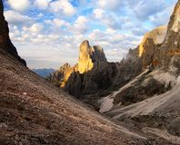 Morning view of cima della madonna Stock Photos