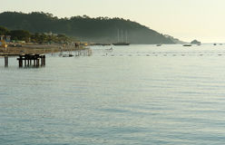 Morning view of coast. Royalty Free Stock Images