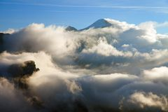 Morning view from Col di Lana to Pico Setsas Stock Photography