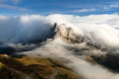 Morning view from Col di Lana to Pico Setsas Stock Images