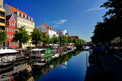 Morning view of the Copenhagen channel Stock Photo