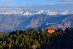 Morning view of Dalhousie town during winter morning Royalty Free Stock Image