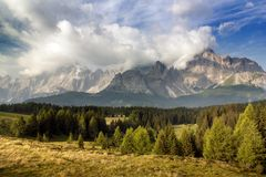 Morning view from Dolomiti di Sesto Stock Photos