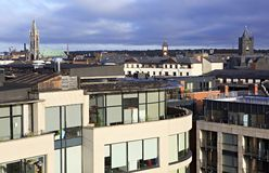 Morning view of downtown Dublin Stock Image
