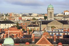 Morning view of downtown Dublin Royalty Free Stock Photos