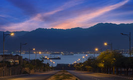 Morning view on Eilat and the Red Sea Stock Images