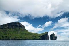 Morning view on Faroese island Vagar