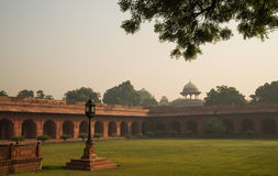 Morning view on garden near Taj Mahal Stock Photos