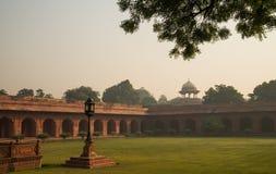 Morning view on garden near Taj Mahal Stock Photos