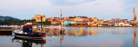 Morning view of Industrial seaport of Maliano. Santander, Stock Images