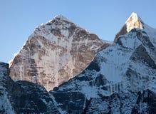 Morning view of Kangtega peak Royalty Free Stock Images