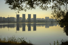 Morning view of the Kiev,Ukraine Royalty Free Stock Images