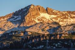 Morning view from Komna. Julian Alps Stock Photos