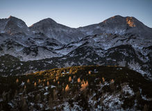 Morning view from Komna. Julian Alps Stock Photography