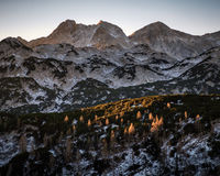 Morning view from Komna. Julian Alps Stock Image