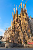 Morning view of La Sagrada Familia Royalty Free Stock Image