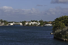 Morning view of Lake Boca Raton, Florida, USA Stock Image