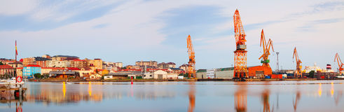 Morning view of  Maliano port. Santander Royalty Free Stock Images