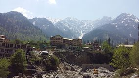 Morning View of Manali stock images