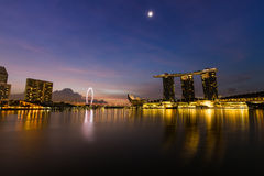 Morning view at marina bay in Singapore Royalty Free Stock Photos