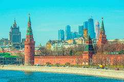 Morning view of the Moscow city center, Royalty Free Stock Image