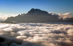 Morning view of mount Civetta from Col di Lana Royalty Free Stock Images