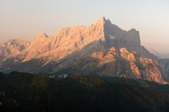 Morning view of Mount Civetta Stock Photos