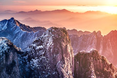Morning view of the mountain peaks. Royalty Free Stock Photos