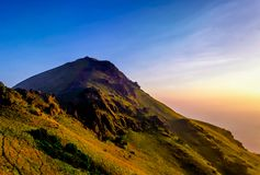 Mullayanagiri Peak, Chikmagalur stock images