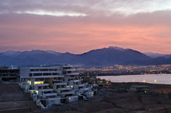 Morning view on a new district of Eilat, Israel Royalty Free Stock Photography