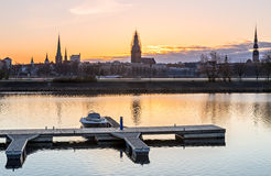 Morning view on old Riga city, Latvia Stock Images